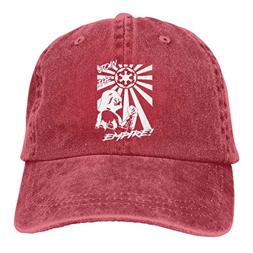 MWht Darth Vader Stormtroopers Join The Empire Galactic Empire Rising Sun Flag Retro Adjustable Cowboy Denim Hat Unisex Hip Hop Red Baseball Caps]()