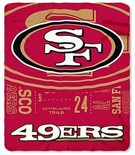 San Francisco 49ers Soft Blanket (NFL San Francisco 49ers Oversized 66in X 90in Plush Fleece Throw Blanket)