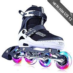 PAPAISON Adjustable Inline Skates for Ki...