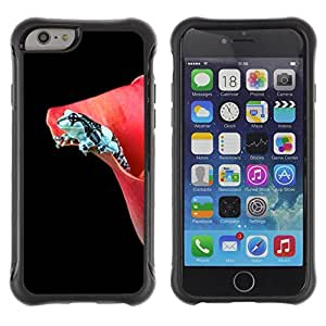 "Pulsar iFace Series Tpu silicona Carcasa Funda Case para Apple iPhone 6+ Plus(5.5 inches) , Flor Negro rana oscuro minimalista"""