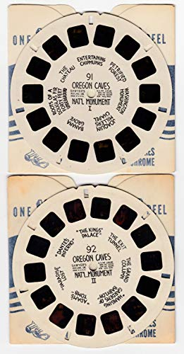 View Master Oregon Caves National Monument Set of 2 Vintage Hand-Lettered 1940s Sawyer's Viewmaster - National Oregon Caves Monument