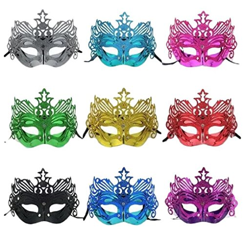 [Sandistore Crown Mask Halloween Costume Party Mask] (Eggshell Costume For Adults)