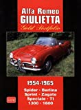 Alfa Romeo Giulietta Gold Portfolio 1954-1965: Spider Berlina Sprint Zagato Speciale TI 1300 1600 (Brooklands Road Test Books)