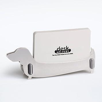 Schreibtisch Visitenkartenhalter Hund Dackel Quittungshalter
