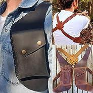 Medieval Double Shoulder Underarm Bag Steampunk Retro Leather Anti-Theft Armpit Bag Outdoor Sport Tactical Bag