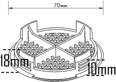 10/Nombre Gris anthracite Plastique Rond Soffite Eaves Fascia pousser en toit Vent Airflow ventilateur 70/mm 23//10,2/cm de diam/ètre