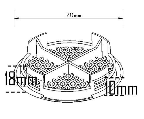 10 Número antracita gris plástico redondo Eaves Fascia Soffit Push en ventilador de techo ventilador de flujo de aire 70 mm 23/4