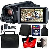 Canon VIXIA HF R800 HD Camcorder (Black) + 16GB Memory Card + Accessory Kit
