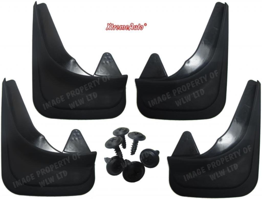 XtremeAuto® Universal Fit Black Front & Rear Car Mudflaps Includes Sticker XtremeAuto®