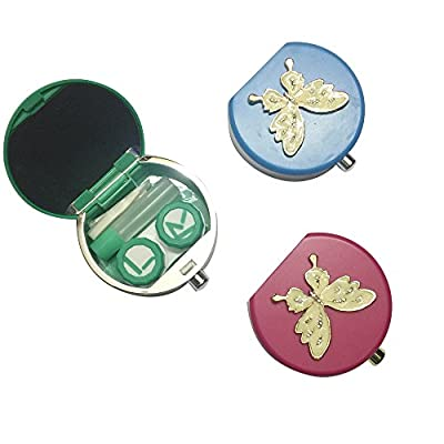 Petmall 1PCS DIY butterfly small exquisite Contact Lenses Box & Case Contact lens Case 7.5*7.3*2.3CM OFFICE-751