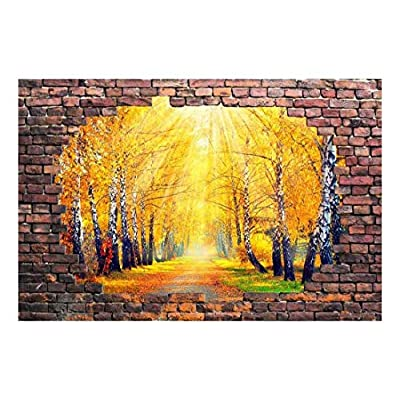 Beautiful Road with Fallen Leaves Wall Decor - Wall Murals
