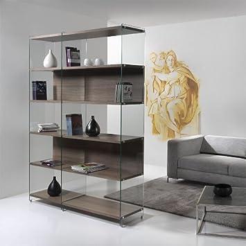 Amazon.de: Bücherregal PEZZANI Holz Regal Design Wohnzimmer ...