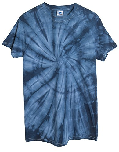 Ragstock Tie Dye T-Shirt, Spider-Navy - M