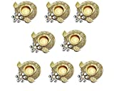 Set of 8 pc Christmas Gift/Decoration Beautiful Christmas Tea Light Holder with white stones in Random Foil Paint. Tea Light Holder/Christmas Decoration