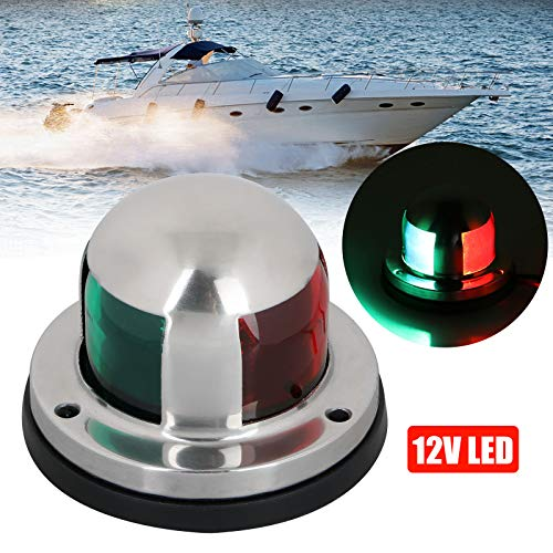 - Linkstyle 12v Marine LED Boat Navigation Lights, Waterproof Marine Navigation Lamp Marine Boat Bow Lights with Red and Green LED for Boat Pontoon Yacht Skeeter[Stainless Steel Shell]