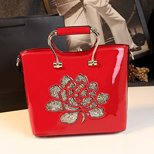 Shoulder Mother Spring summer Red Messenger Middle Wild Atmospheric Handbag Big Gunaindmx Bag aged a64qxdaA