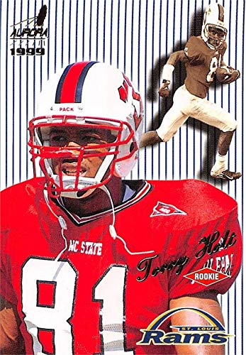 Torry Holt football card (NC State Wolfpack) 1999 Pacific Aurora Pinstripes Rookie #121
