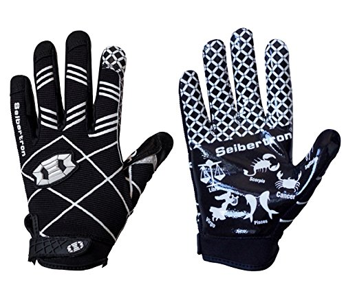 - Seibertron Pro 3.0 Twelve Constellations Elite Ultra-Stick Sports Receiver Glove Football Gloves Youth Black XS