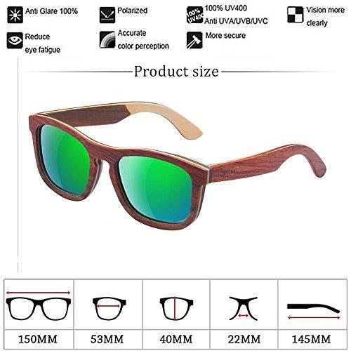 Hechas De De con Gafa Sol De Gafas Gafas Mano Bambú De Madera Sol A Gafas Madera Sol Gafas De De Retro Y Polarizadas Marco C2 De YAIgxvw