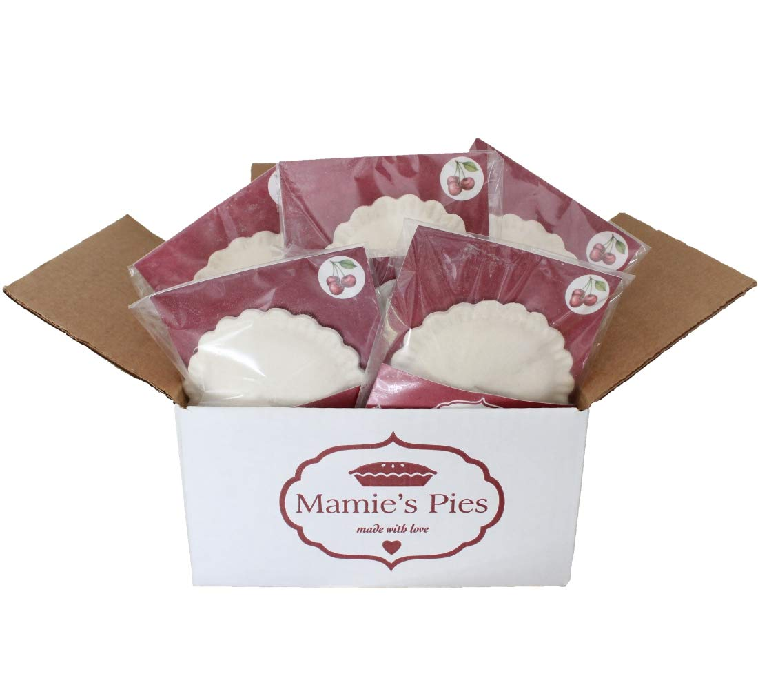 Mamie's 12 Pack Melt-in-Your-Mouth Single Serving Cherry Pies, Individually Packaged 4.5oz Pocket Pies, Preservative Free, Shipped Frozen and Ready to Bake, Made in USA. by Mamie's Pies (Image #3)