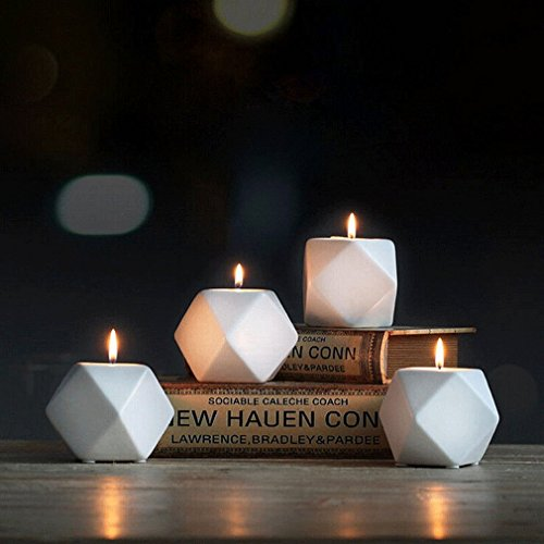 Swirl Acrylic Candle Holder (MONOMONO-Nordic Style White Ceramic Geometry Candle Holder Stand Candlestick Home Décor)