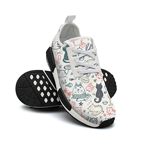 Shoes Sneakers Womens Shoes Star Mice Heart Cat FAAERD and Fashion Funny Breathable Fish Mesh Designer Lightweight Tennis 516wAEf
