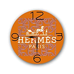 Art time production Hermès 11'' Handmade Wall Clock - Get Unique décor for Home or Office - Best Gift Ideas for Kids, Friends, Parents and Your Soul Mates