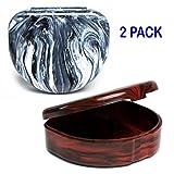 Elegancia Orthodontic Retainer Case 2pk Designer Marble Colors (Designer Russian Roulette)