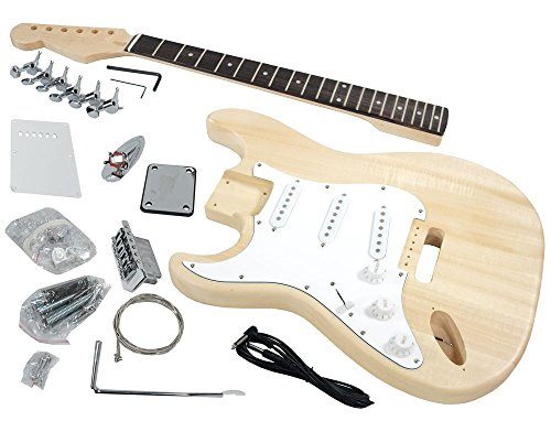 Solo ST Style DIY Guitar Kit, Basswood Body, Left Handed