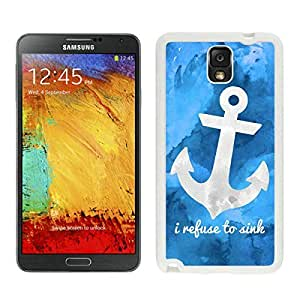 Cool Design Cover in Electronics Art Anchor Samsung Galaxy Note 3 Case White Cover