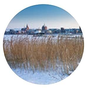 alfombrilla de ratón Rostock en invierno - ronda - 20cm