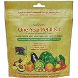 Bluapple Ethlylene Gas Absorbers Refills - Year Supply - Refrigerator Fruit & Vegetable Preserver - Blue Apple - Keep Produce Fresh
