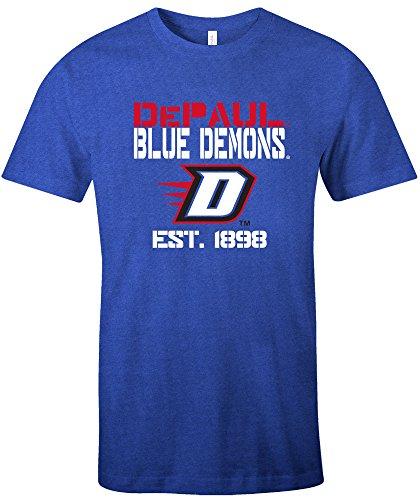 40d0ce0c6 NCAA DePaul Blue Demons Est Stack Jersey Short Sleeve T-Shirt