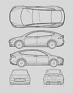 High Quality Tesla Model S Blueprint Print Car Wall Art Gift   Choose Your Model, 11x14