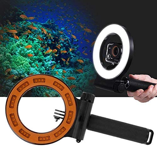 Haofy 水陸両用写真撮影LEDダイビングフィルライト40m防水用OSMOアクションGopro XiaoYi SJCAM