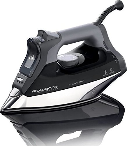 Rowenta DW8156 1800 Watt ProMaster Steam Iron with Platinium Soleplate (Black) by Rowenta