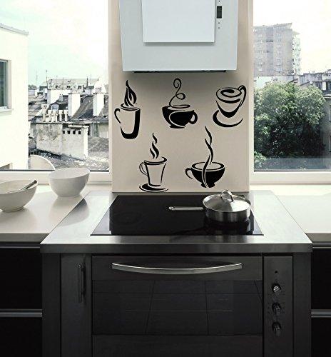 子キッチンレストランカフェバーティーコーヒーケーキ子供部屋にスタイリッシュな壁アートステッカーデカールg9003   B018PM26D8