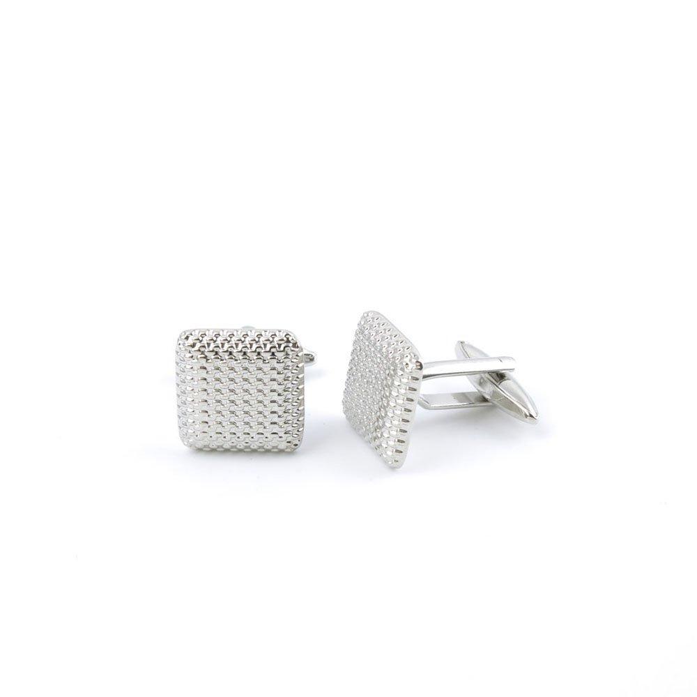 Men Boy Jewelry Cufflinks Cuff Links Party Favors Gift Wedding SU054 Shinning Silver Wire Block