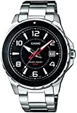 Casio Men's Quartz Watch with Black Dial Analogue Display and Silver Stainless Steel Bracelet MTD-1074D-1AVEF