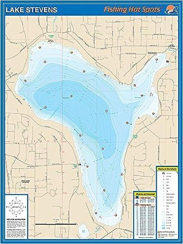 Lake Stevens Washington Map.Lake Stevens Washington Fishing Map Fishing Hot Spots