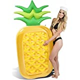 Giant Pineapple Pool Float | Swim Raft | Inflatable Floatie Lounger by Captain Floaty - For Kids and Adults (Over 6 Feet Tall!)