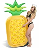 CAPTAIN FLOATY Giant Pineapple Pool Float | Swim Raft | Inflatable Floatie Lounger for Kids and Adults (Over 6 Feet Tall!)