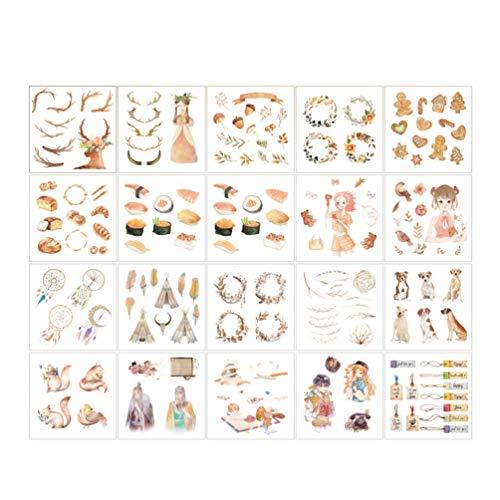Hongma Washi Masking Set Japanese Washi Tape DIY Scrapbooking Sticker ()