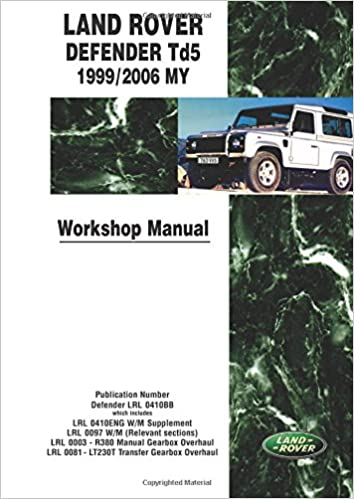 Land rover defender 90 owners manual.