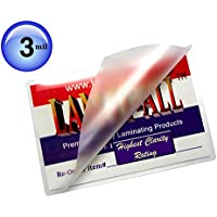 File Card Hot Laminating Pouches 3 Mil 3-1/2 X 5-1/2 [Pack of 100] by LAM-IT-ALL