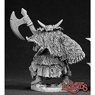 Reaper Miniatures Ferach Orc Warlord #02318 Dark Heaven Legends D&D Mini Figure: Toys & Games
