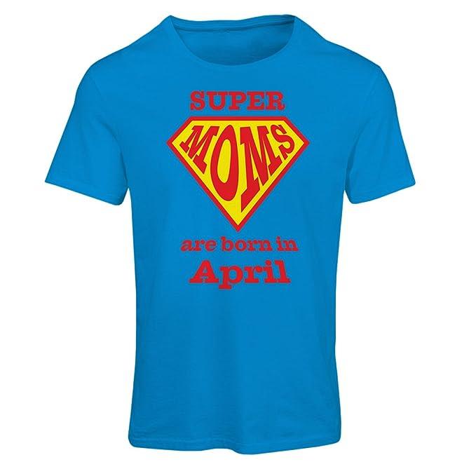 Super Sono Moms Donna AprileAmazon Nel it Di Maglietta Mese Nati y0nm8vONw