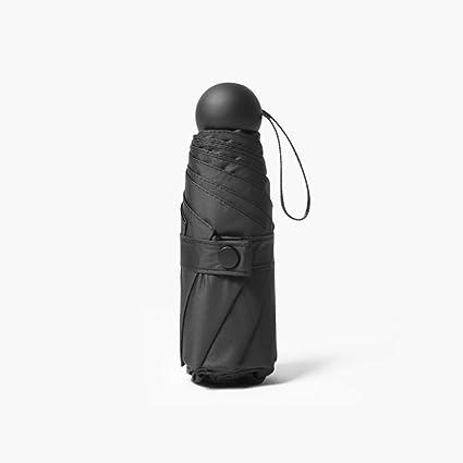 Plegable Ultra Light Mini paraguas protección solar protección UV compacto secado rápido viaje para niñas (