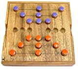 Nine Mens Morris or Mills - Wooden Peg Game