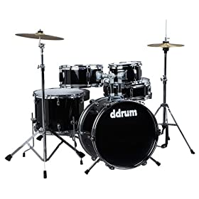ddrum D1 JR Complete 5-piece Drum Set, Black 9